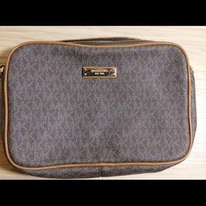 Brown MK logo print crossbody purse for sale!